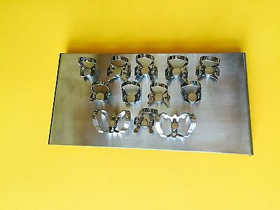 Dental Clamps Tray With 12 Clamps