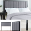Grey Upholstered Headboard Queen Modern for Bed Frame Mounted Bedroom Furniture