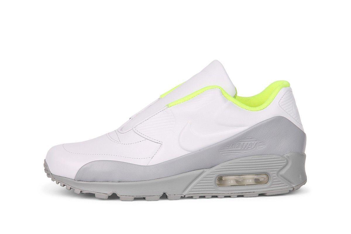 Women's Nike Sacai Air Max 90 SP Sacai Nike White Running Training Shoes Size 8 c1fd57