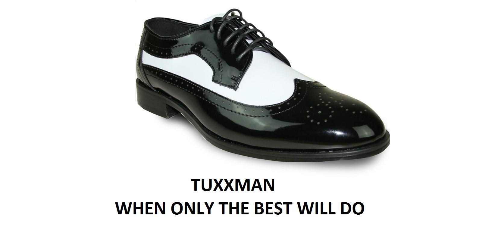 connotazione di lusso low-key New Uomo Wing Tip Two Two Two Tone nero bianca Lace Dress Formal Tuxedo scarpe TUXXMAN  Sito ufficiale