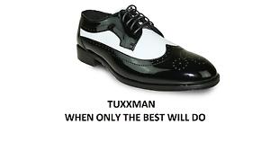 De Chaussures Noir Blanche Tuxedo Dentelle Blanche Astuce Aile smoking Robe Tons Nouveaux Tuxxman hommes Deux En P7wqRBF