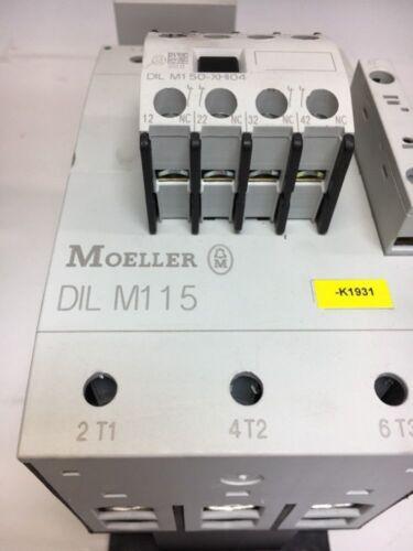 Moeller DIL M115 Contactor 160A Open 600V 3 Pole 190-240v coil Warranty!