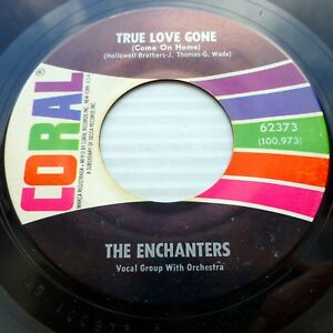 THE-ENCHANTERS-2nd-pressing-1963-vg-CORAL-45-True-Love-Gone-b-w-The-Day-D1157