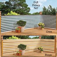 Outdoor Privacy Net Fence Garden Fencing Deck Backyard Wind Screen Patio Decor