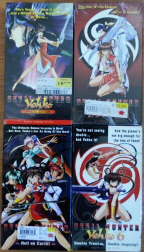 Lot of 4 Devil Hunter Yohko VHS Video New Anime English Dubbed Comp Collection