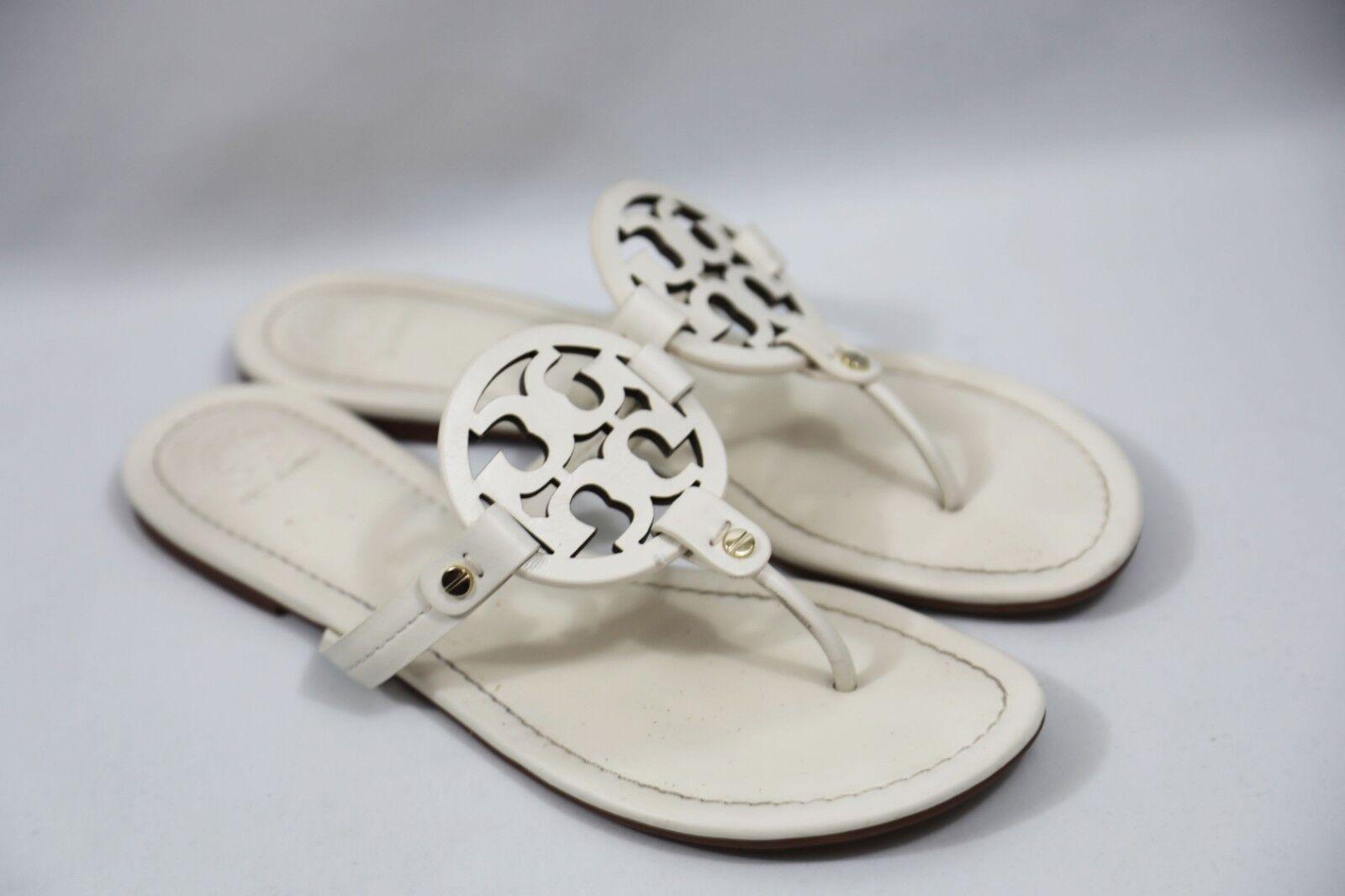 128 Tory Burch Burch Burch Miller Flip Flop Sandals Dimensione 10 M 5eb65b