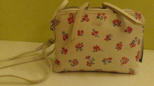 Cath Kidston s leather duo x body woodstock ditsy chalk 711661