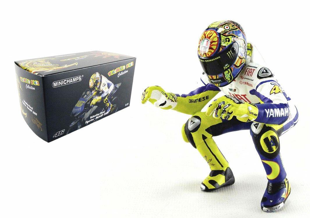 Minichamps Valentino Rossi Equitación estatuilla MotoGP 2009-escala 1 12