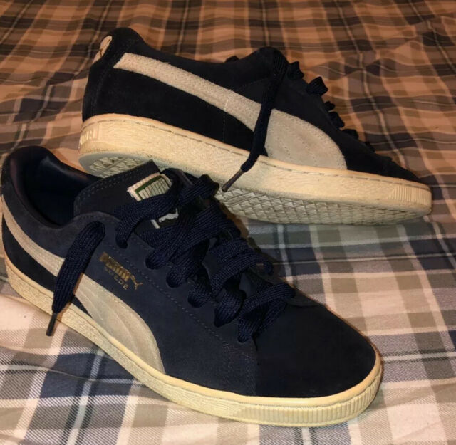 Puma Suede Classic Men's Size 9.5 (Navy BlueWhiteGold) 910 Condition