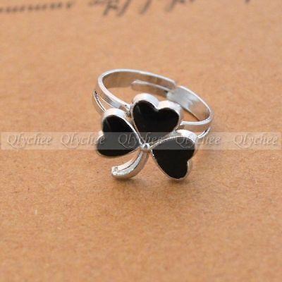 Fashion Clover Mood Ring Shamrock Emotion Feeling Color Changing Adjustable Ring