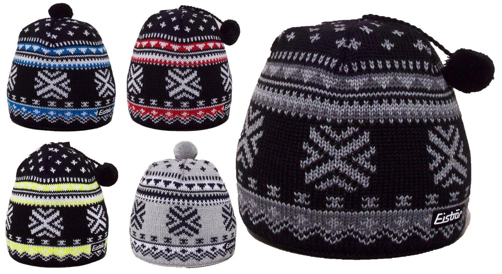 NEW- EISBAR HEINZ MU Austrian Merino Wool Knitted Winter Sport Ski Bobble Hat