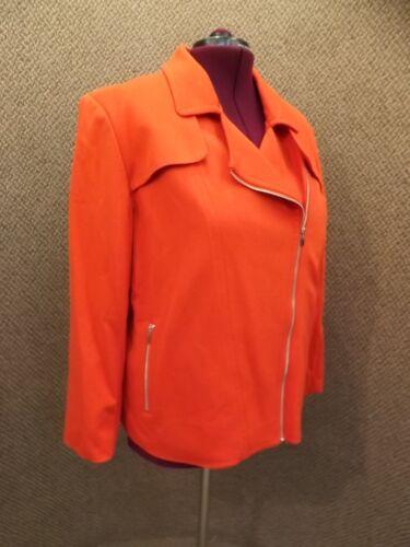 100 audacieuse 3x plus légère asymétrique rouge femmes Veste zippée New Rafaella Awpq7O