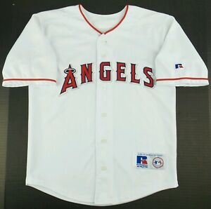 Details about Vintage Russell Athletic Anaheim Angels Baseball Jersey Size Youth 10/12