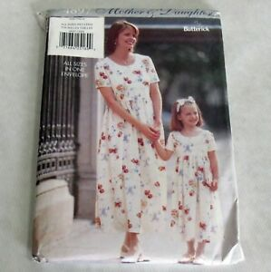 Butterick-Vintage-1990s-Pattern-4897-Mother-Daughter-Matching-Dresses-All-Sizes