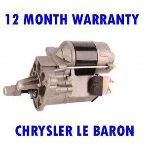 Chrysler-Le-Baron-3-0-1990-1991-1992-1993-1996-Remanufacturado-Motor-de-Arranque