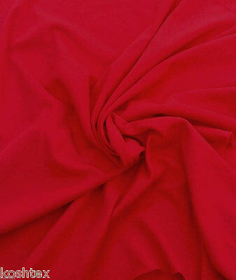 Red Cotton Spandex Fabric Jersey Knit by the Yard 4 Way Stretch 4/19/15