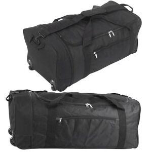 Wheeled-Lightweight-Sports-Travel-Holdall-Luggage-Cargo-Weekend-Business-Bag-UK