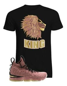 best sneakers 263ed 41482 Details about Lebron 15 Hollywood Matching T Shirt Pink Metallic Lakers Sz  S M L XL up to 4XL