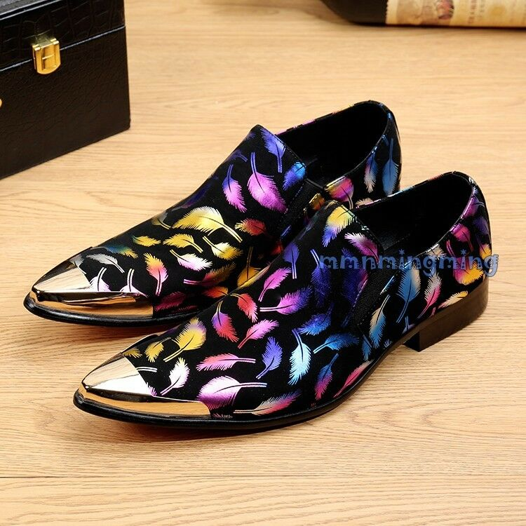 Fashion Uomo leaves Party decoration Slip On Shoes Business Wedding Party leaves Shoes New 801c79