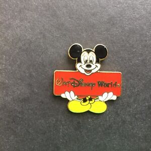 Walt-Disney-World-Mickey-Mouse-Holding-Red-Sign-Disney-Pin-374