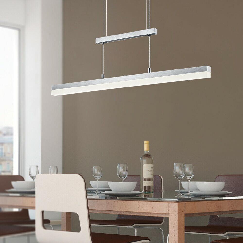 Parallelimport Pendelleuchte LED Metall Modern silber Warmweiß ...