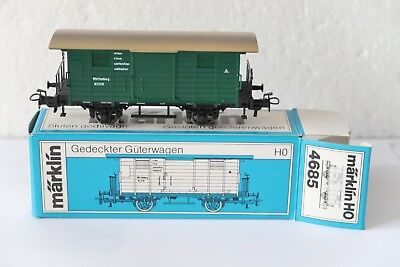 Märklin 4685 Gedeckter Güterwagen Württemberg NEU H0 Top Zustand In Ovp Sammlung