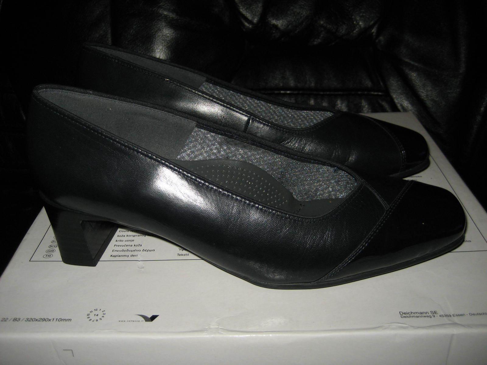 ARA Pumps UK 6,5 H  Gr. ca. 39,5 H Schwarz Echt  Leder Schuhe