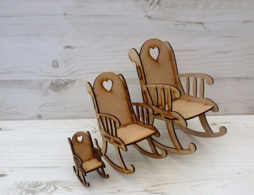 BENCH ROCKING CHAIR small CRIB cot xmas MDF wooden