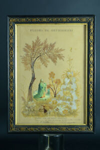 Beau-Cadre-reliquaire-Passion-bois-pelerinage-Jerusalem-XIXeme-Jardin-Gethsemani