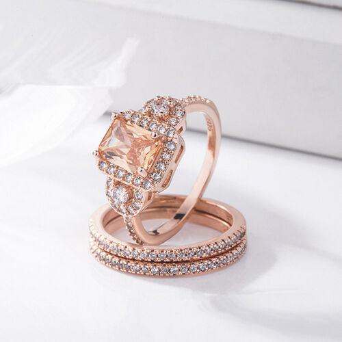 Cheap Engagement Ring Women Jewelry Elegant Surprise Shine 1set Wild Sheath Ring