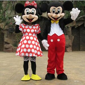 Adult Mickey And Minnie Mouse Mascot Costume Party Outfit ...