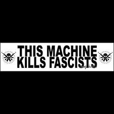 THIS MACHINE KILLS FASCISTS (mask) Sticker  WOODY GUTHRIE  (Buy 2 Get 1 Free)