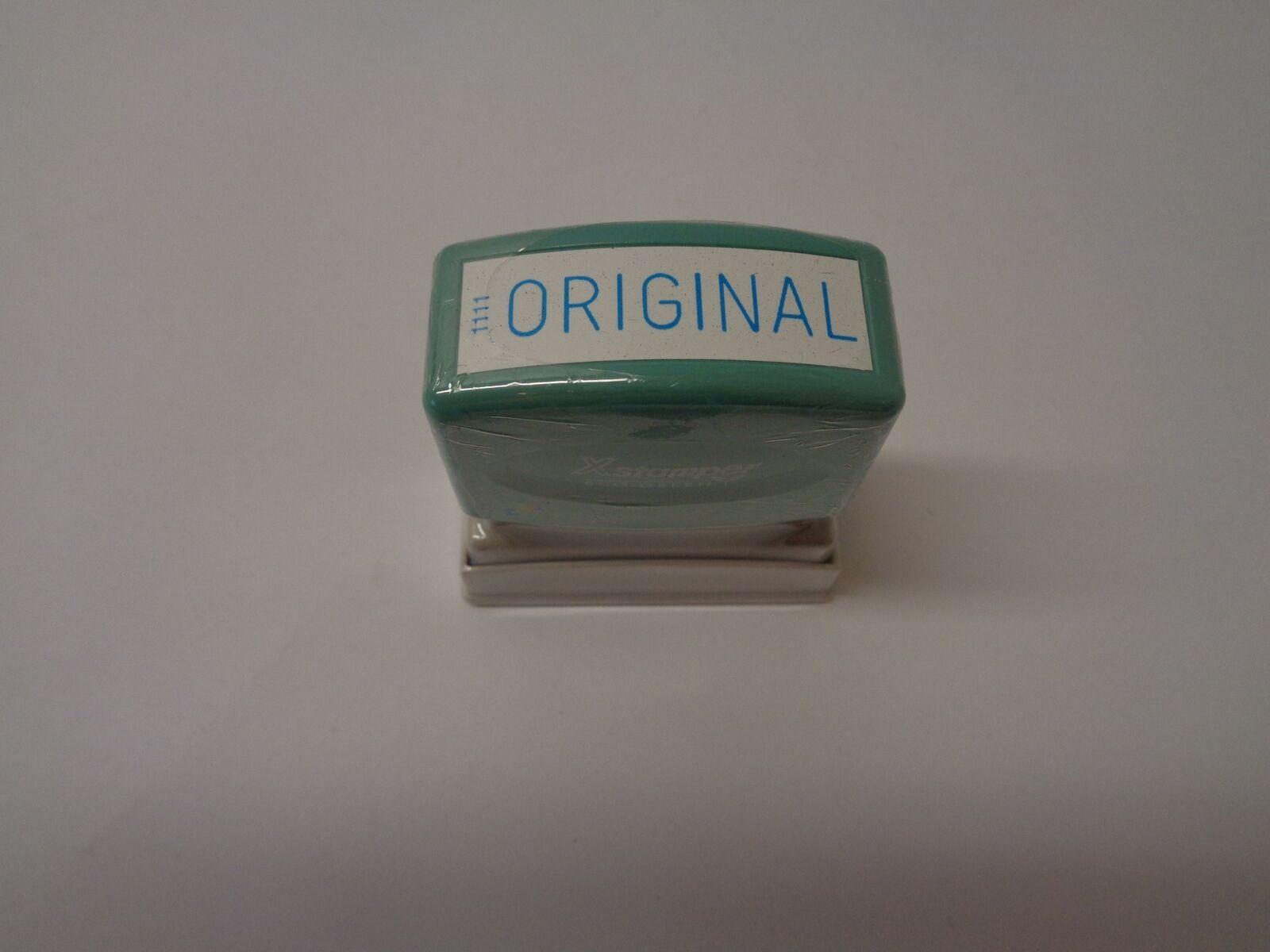 Qty = 1 Box of 12  Xstamper  Original  Pre-inked Stamper bluee Ink P N 1111
