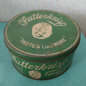 Antique-Patterkrisp-Tin-Chocolate-Candy-10-Lbs-Patterson-Chocolate-Toronto