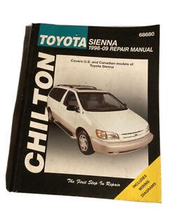 1998-2010 Toyota Sienna Chiltons Repair Service Shop Workshop Manual 1620921413