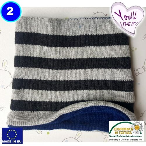 Boy baby toddler winter Scarf Snood Warm Knitted colour UK