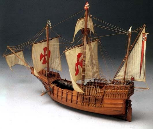 Mantua Santa Maria 1 50 Scale Wood Kit - Flagship of the Columbus Fleet 1492