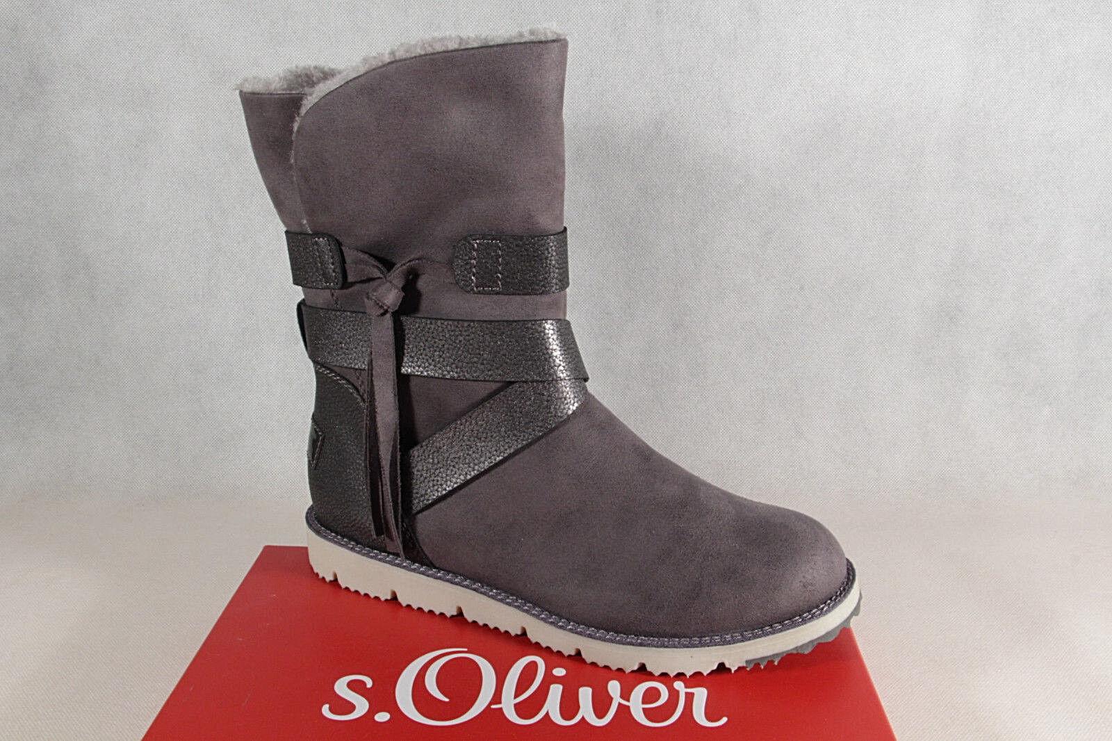 S. Oliver Da Donna Stivali, ANTRACITE Stivaletti, Stivali Stivali invernali ANTRACITE Stivali, 26481 NUOVO! c039ad