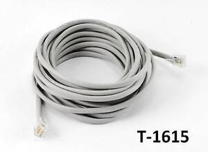 15ft 6C Round RJ11/RJ12 Telephone Wire Cable / Cord, CablesOnline T ...