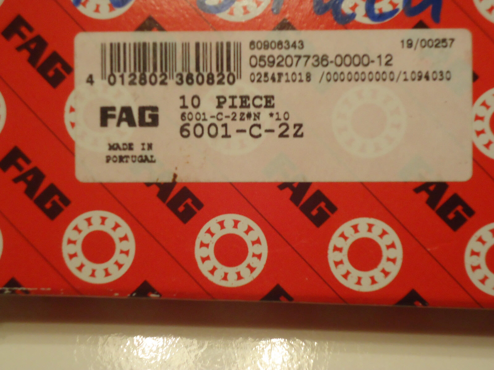 Markenware SKF 6 Kugellager 6001 ZZ 2Z 12 x 28 x 8 mm