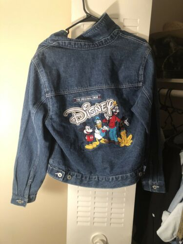 1980/'s Hand Painted Mini /& Mickey Mouse Jean Jacket|Daffy and Donald Duck Disney Character Denim Jacket|Pop Art Jean Jacket|Wearable Art|MED