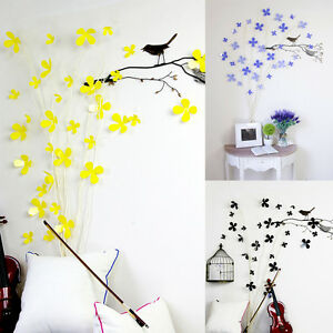 12 pcs 3d wall sticker stickers flower home decor diy room for 3d flowers for wall decoration
