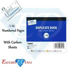 Half Size Duplicate Receipt Book Numbered Cash 1-100 Pages Pad Carbon Invoice
