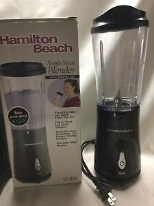 Hamilton Beach Single Serve Blender With Travel Lid 51101b Ebay