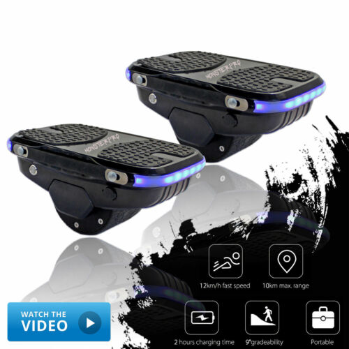 Black 2legged Wheel Electric Hover Shoes Self Balancing Skate Scooter Shoes
