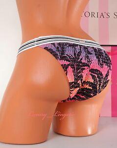 VICTORIA-039-S-SECRET-VS-Swim-Bikini-Bottom-Banded-Smoked-Cheeky-S-Small-Palms