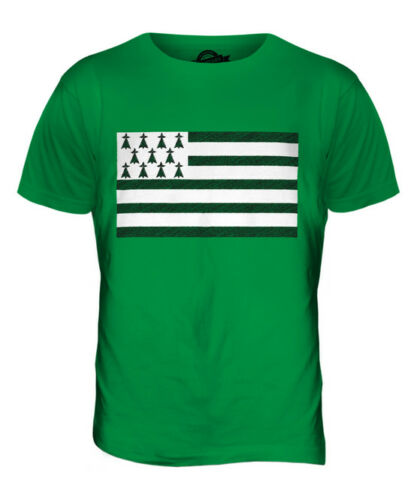 BRITTANY SCRIBBLE FLAG MENS T-SHIRT TEE TOP GIFTFOOTBALL SHIRT