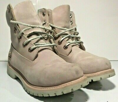 Ankle Work Boots Pink Rose Gold A18L9