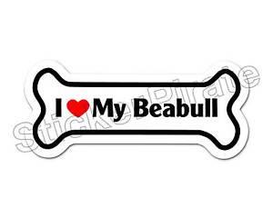 I-Love-My-Beabull-Dog-Bone-Bumper-Sticker-Decal-DB-145
