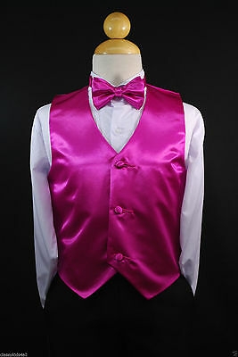 Children Teen Boys WHITE VEST BOW TIE for Wedding Formal Suits Tuxedo Sz S-28